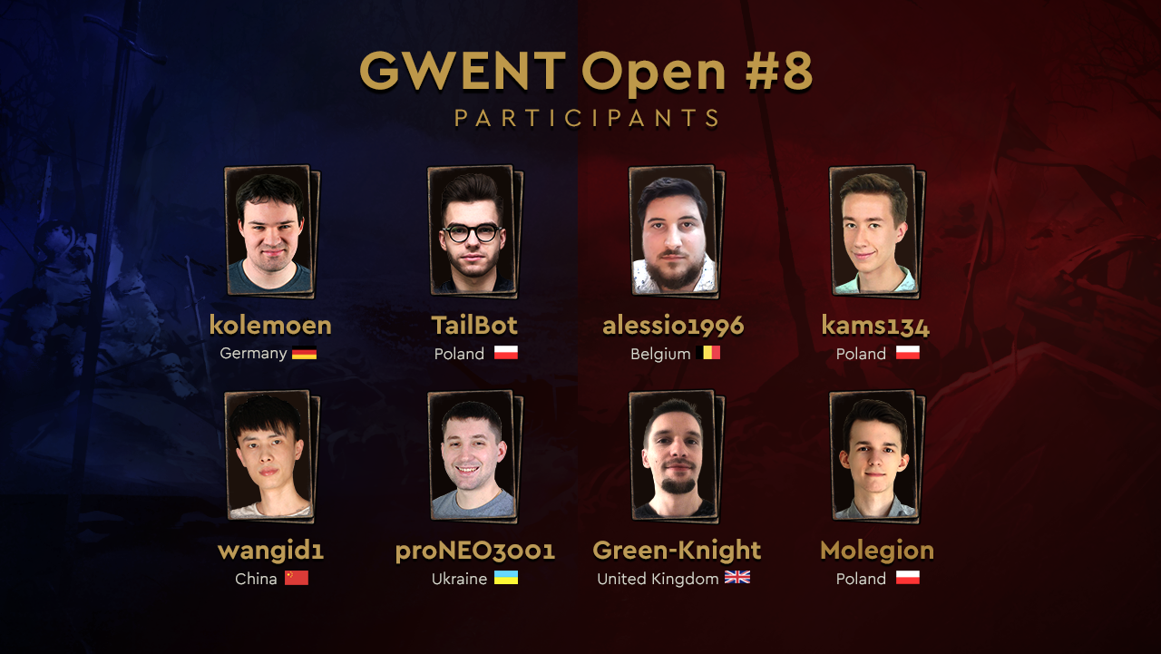 8 Players Invited to the GWENT Open #8