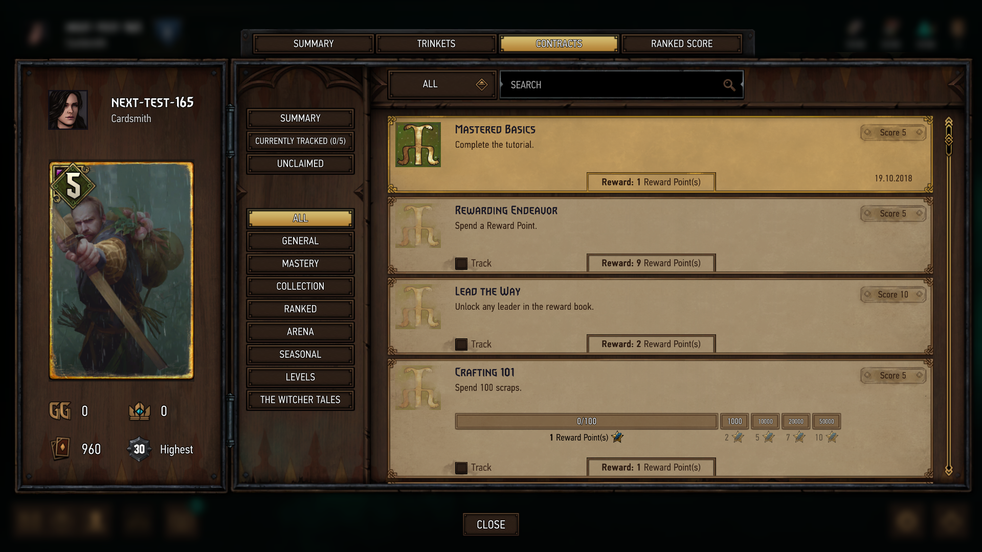 Updated rank and progression system — what's new? - GWENT: The
