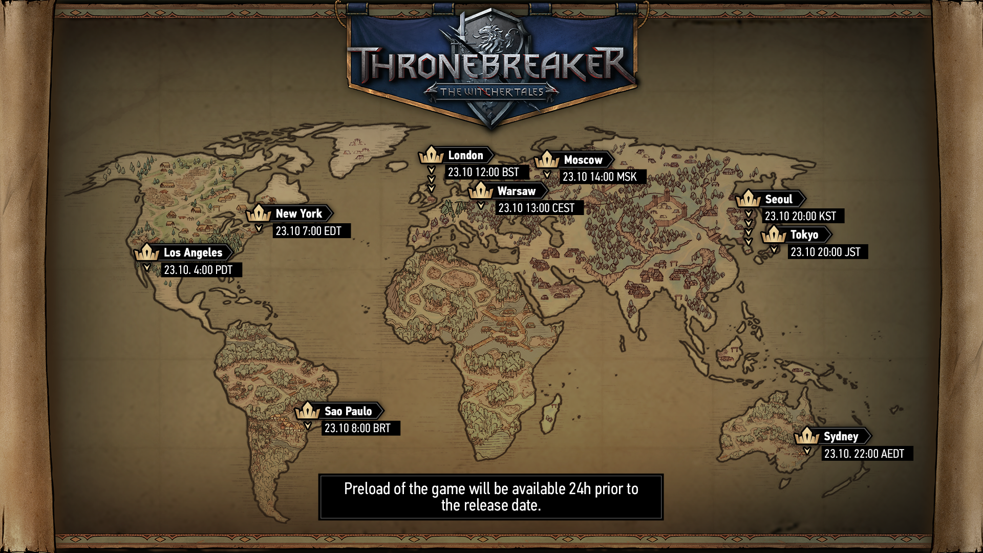 Thronebreaker: The Witcher Tales releases on October 23rd at 1 PM ...